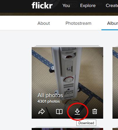 frickr:アップした写真を一括ダウンロードする
