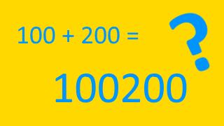 JS:文字列と計算を伴う数値の連結注意点