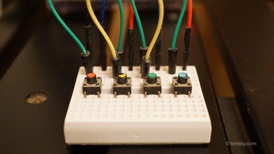 ラズパイ:タクトスイッチでPythonプログラムを動作させる