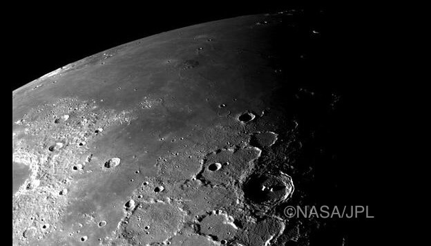 Moon by copyright NASA/JPL
