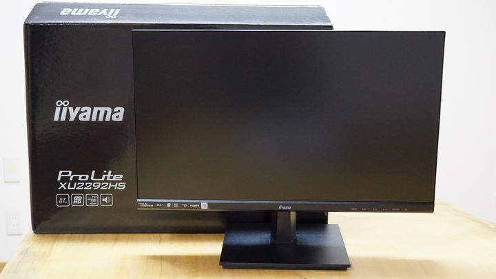 iiyama22型IPSディスプレイ Pro Lite XU2292HS-B1の入出力ポートの位置
